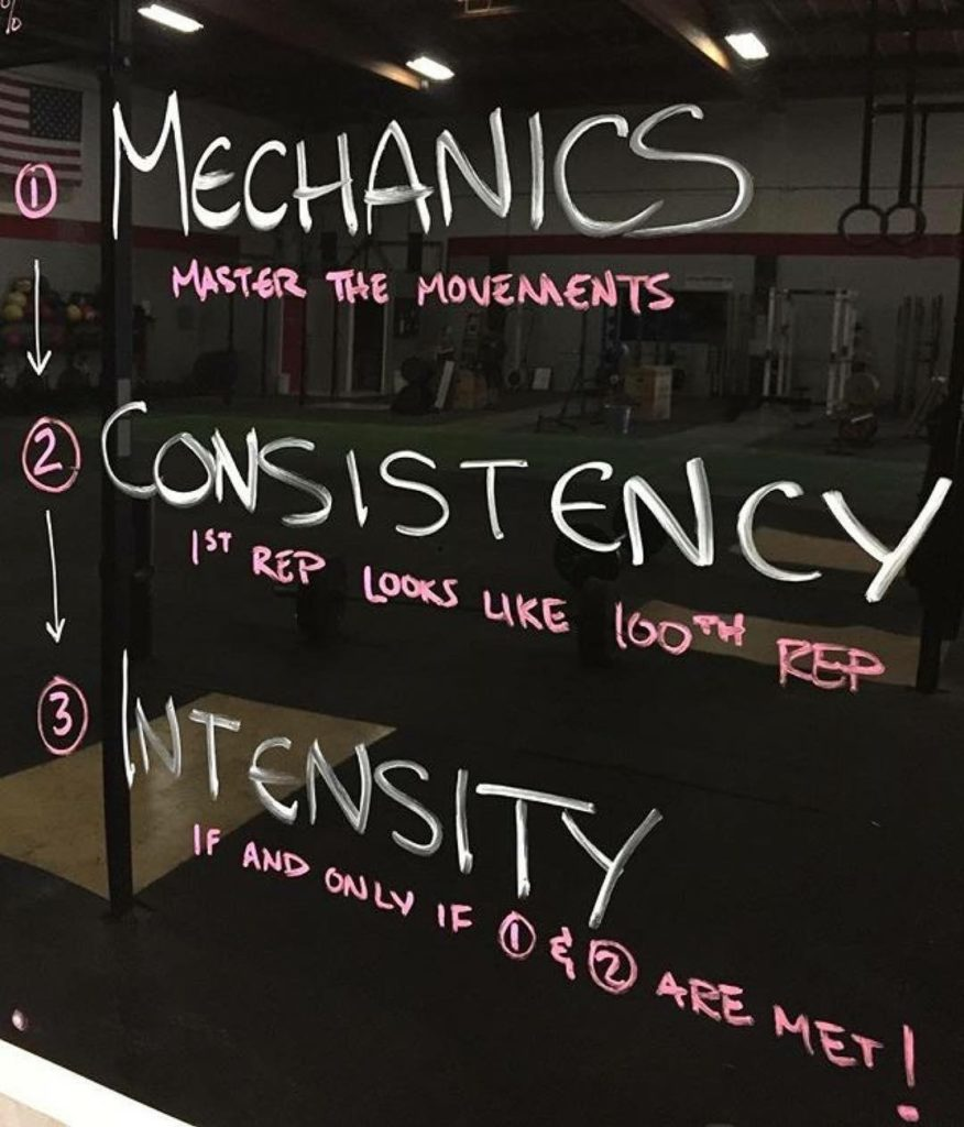 Workout – Tuesday 11/07/2017